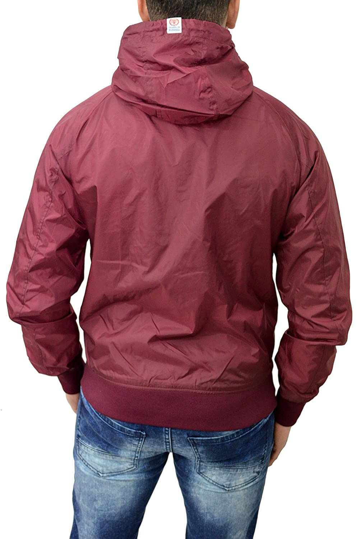 Franklin & Marshall Mens Jacket Designer Branded Nylon Hooded Lightweight Hoodie