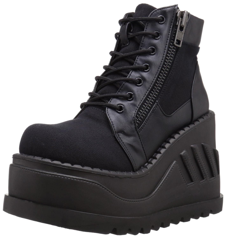 Demonia Women's STO10/BCA-VL Boot B017LL51OU 11 B(M) US|Black Canvas Vegan Leather