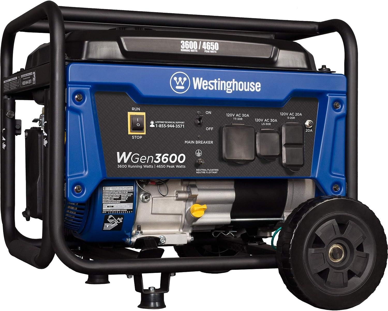 5. Westinghouse WGen3600 Portable Generator