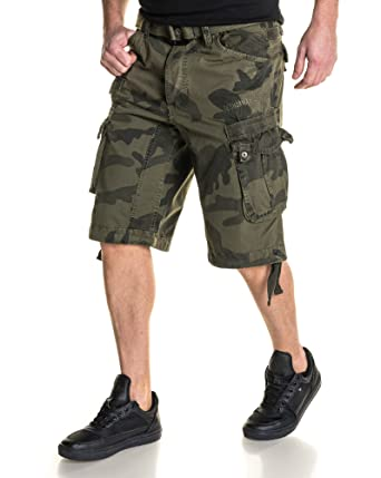 Nouveaux produits c5bb0 8ec8c BLZ Jeans - Bermuda Cargo Homme Camouflage Kaki - Couleur ...