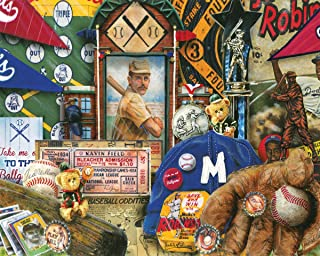 product image for Springbok's 1000 Piece Jigsaw Puzzle Vintage Baseball, Multi