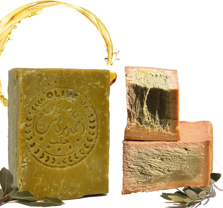 Jabón E4U original Aleppo, clásico 60% aceite de oliva, 40% aceite de laurel, aprox. 200 g vegano, jabón natural, jabón de ducha, jabón de afeitar, receta tradicional de Orient.