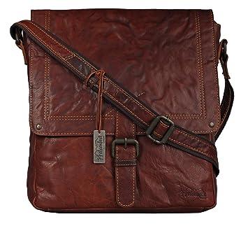Vintage Ledertasche klein Überschlagtasche o2dyR