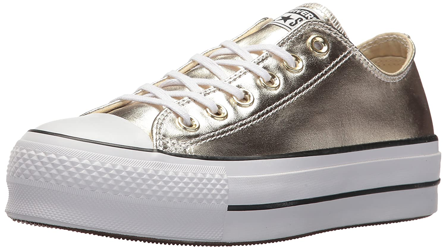 Amazon.com | Converse Womens Chuck Taylor CTAS Lift Ox Canvas Fitness Shoes (Gold/Black/White 743), 5.5 UK 5.5 UK | Fashion Sneakers
