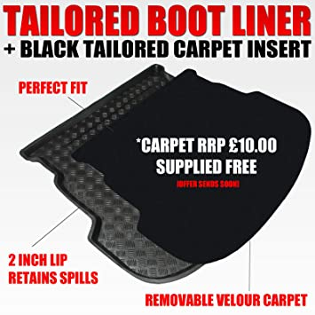 Volvo Xc60 2008 On Tailored Boot Mat Carpet //Rubber