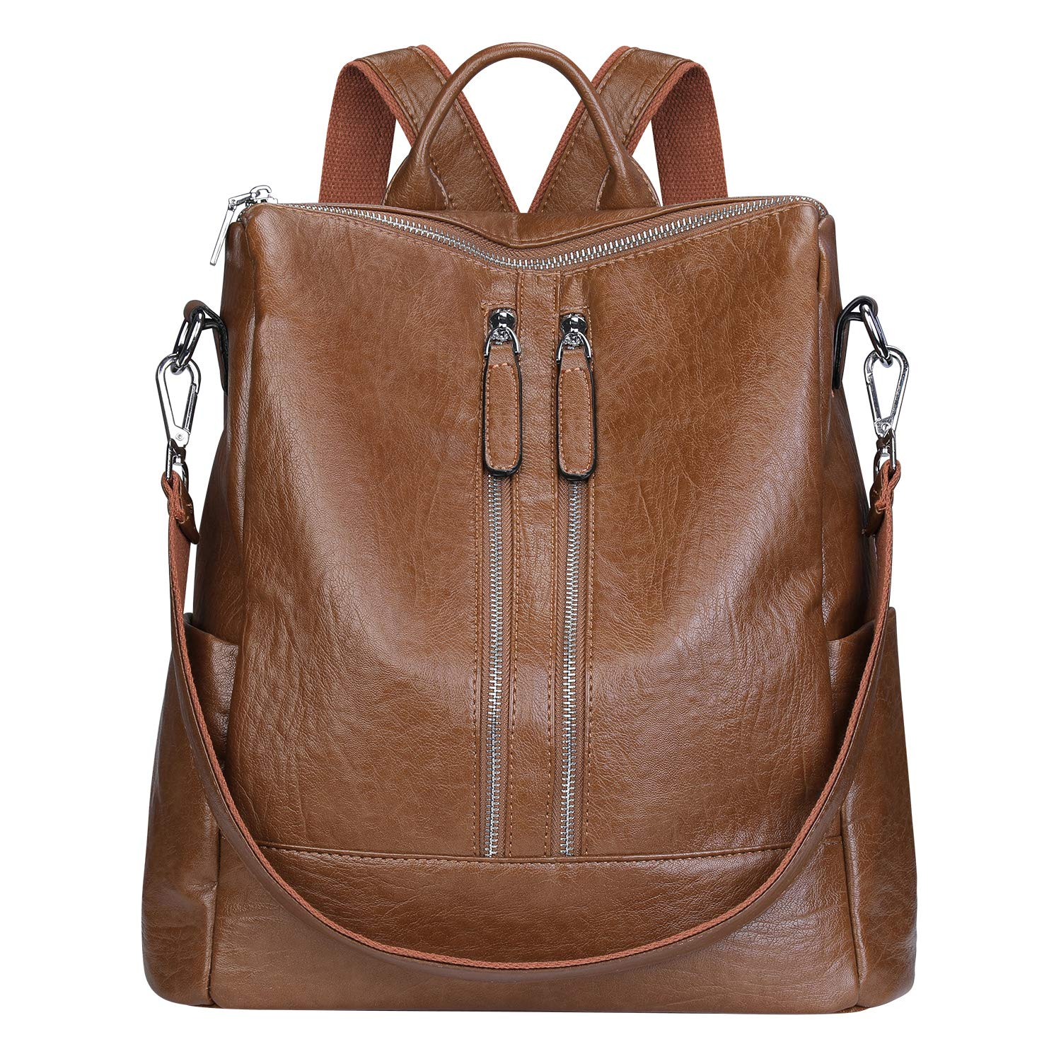ca71d2dd2e29 Amazon.com  SAMSHOWME Lightweight Women PU Leather Backpack Shoulder Bag  Casual Purse (brown)  NEWSHOWS