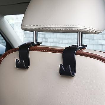 Universal Car Storage Hook Suv Back Seat Headrest Mini Hanger Organizer Coat Purse Handbag Grocery Shopping Bag Holder Heavy Duty Black Set Of 4 Bouns Car Key Chain Ring By Attopro Amazon Co Uk