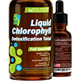Liquid Chlorophyll for Total Detox - MAX Absorption - Pure Vegan Chlorophyllin - Made in USA - Helps with Bad Breath…