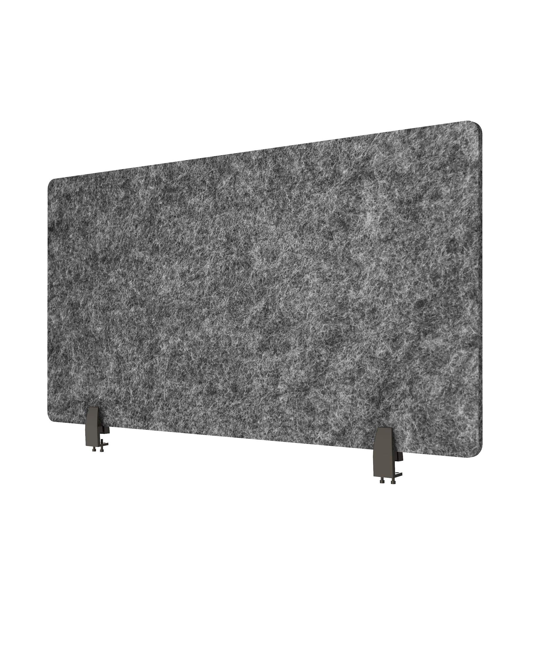 ReFocus Raw Clamp-On Acoustic Desk Divider - Reduce Noise and Visual Distractions with This Lightweight Desk Mounted Privacy Panel (Anthracite Gray, 48'' X 16'')