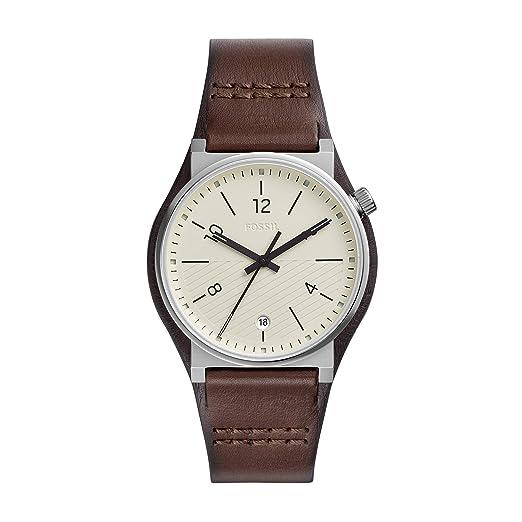 Fossil Reloj Analógico para Hombre de Cuarzo con Correa en Cuero FS5510: Amazon.es: Relojes