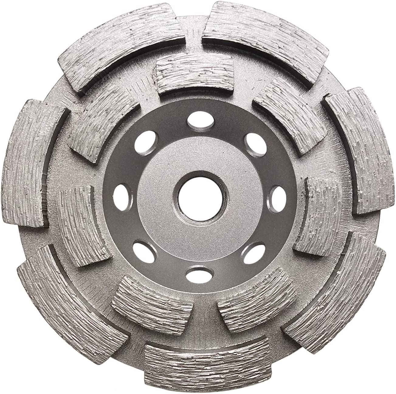 Double Row Segments GCD045FCP Concord Blades  4-1//2-Inch Diamond Cup Wheel Fieldstone and other Masonry Surfaces with 5//8-11 Thread for grinding Concrete
