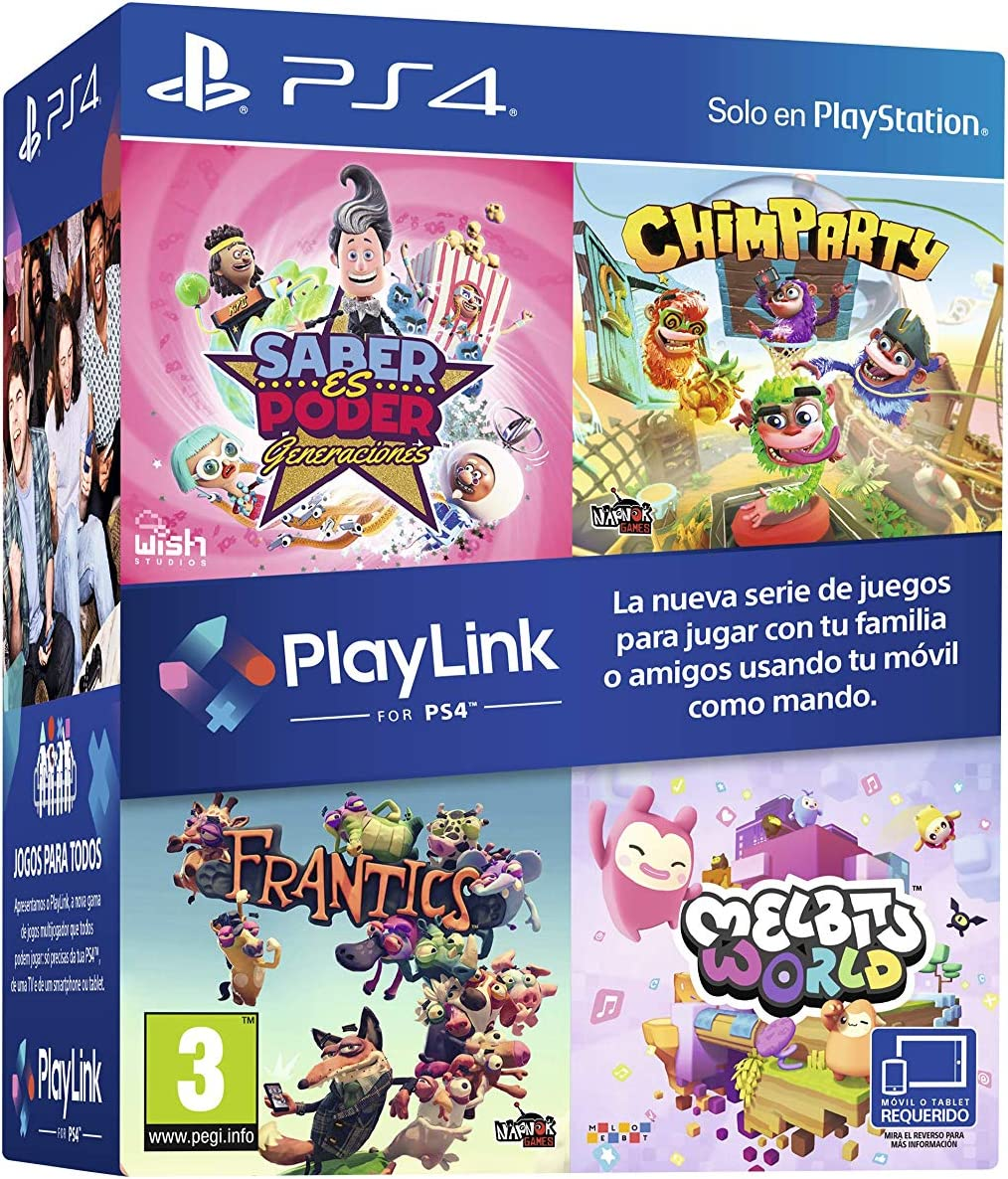 Pack Playlink: Saber es Poder + Chimparty + Frantics + Melbits ...