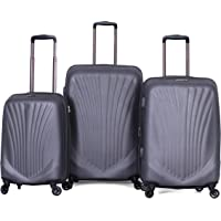 Travelite Luggage Trolley Bags for Unisex, 3 pieces, Dark Grey, 14889