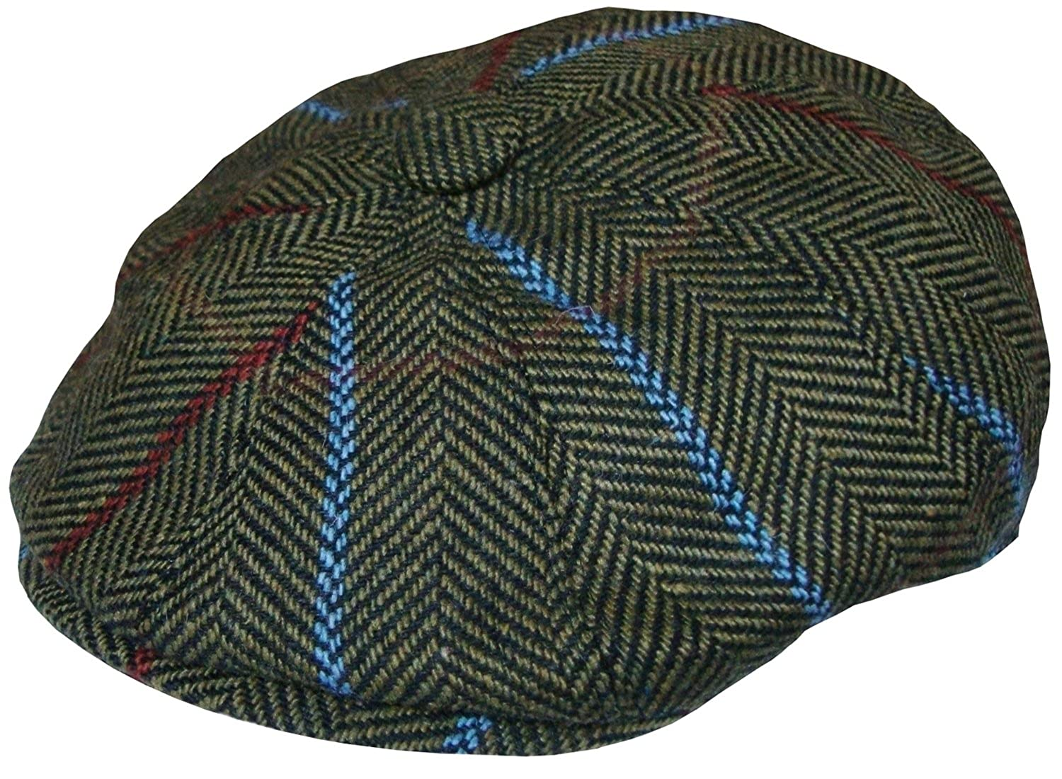 59a79b6d Mens Baker Boy Cap Peaked Country Flat Caps Herringbone Gatsby Hat Blue or  Green: Amazon.co.uk: Clothing
