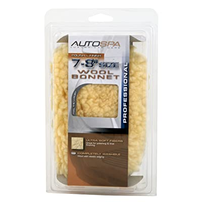 "Carrand 40404AS AutoSpa 7-8"" Soft Synthetic Wool Polishing Bonnet: Automotive"