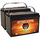 QTY 2: VMAX SLR125 AGM Sealed Deep Cycle 12V 125Ah batteries for Use with Pv Solar Panels,Smart chargers wind Turbine…