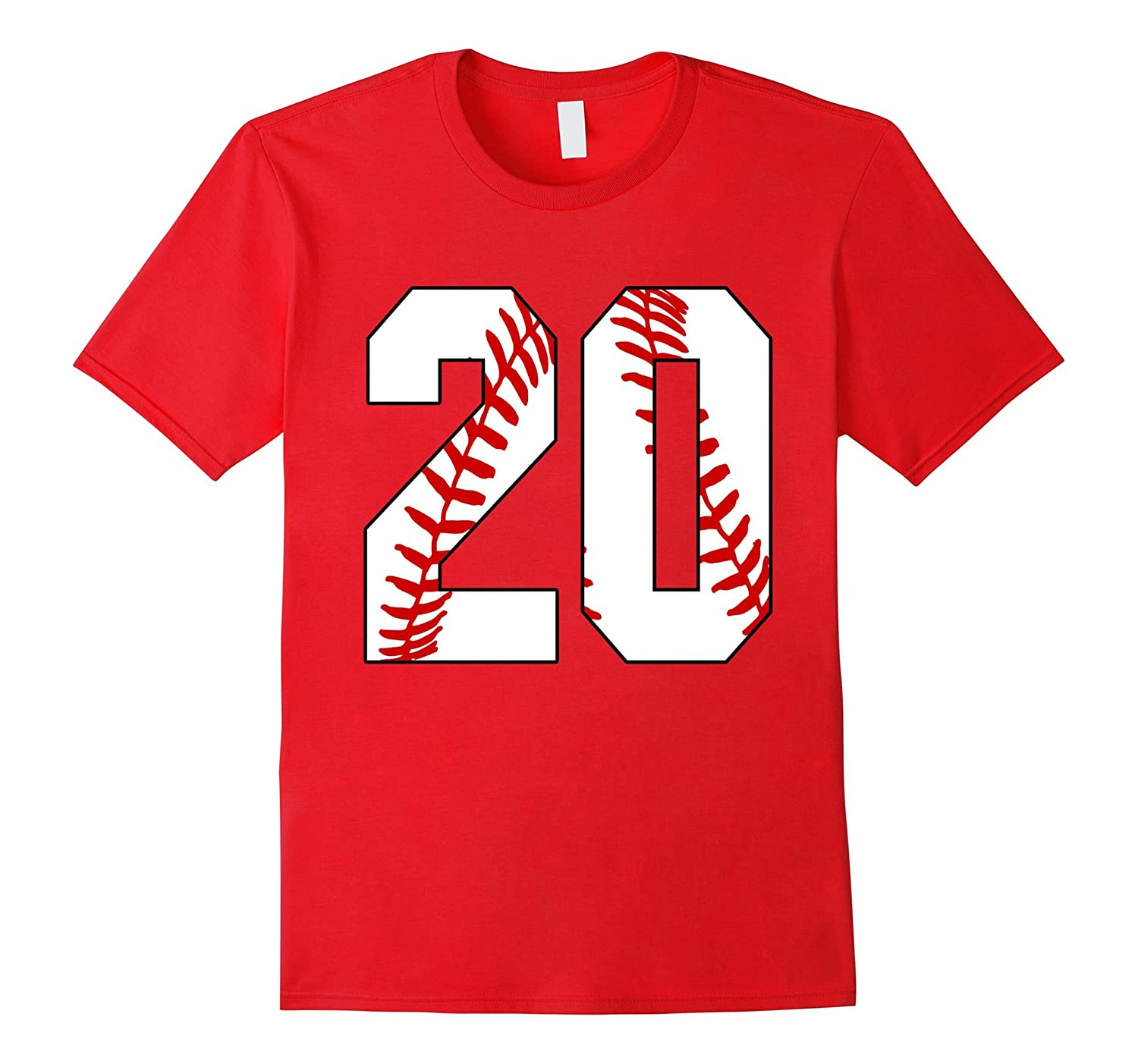 20 Baseball 20th Birthday Twenty Baseball Mom T-shirt-TD