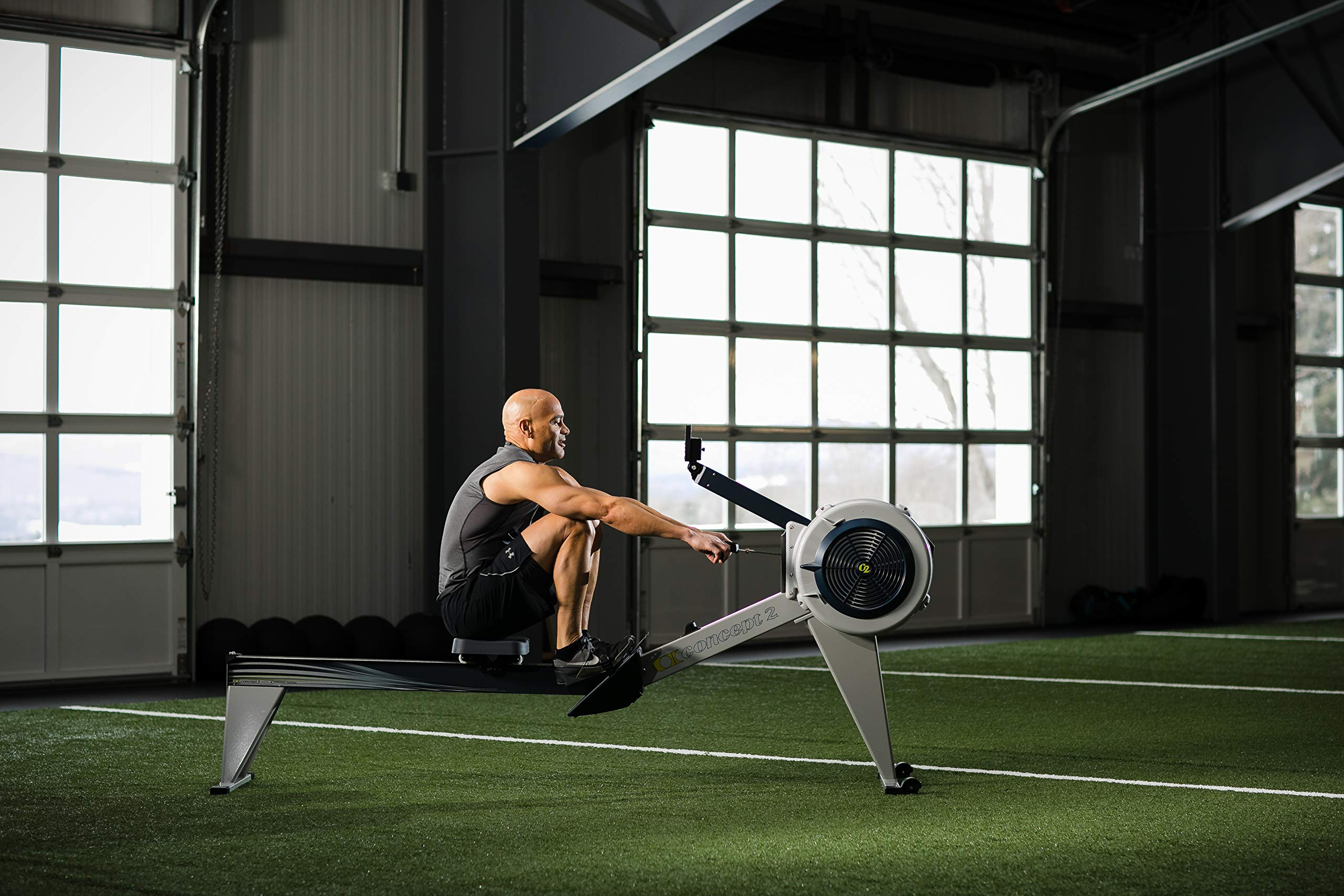 Concept2 Model E with PM5 Performance Monitor Indoor Rower Rowing Machine Gray by Concept2 (Image #8)