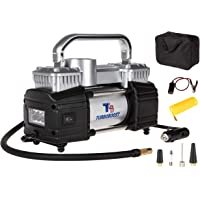 TurboBoost 12V Metal Air Compressor Pump Double Cylinders Heavy Duty, 150PSI Digital Inflator with Pre-set & Auto Shut…