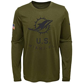 ... cheap nike miami dolphins youth boys 2018 salute to service dri fit  long sleeve shirt youth ... 769b60194
