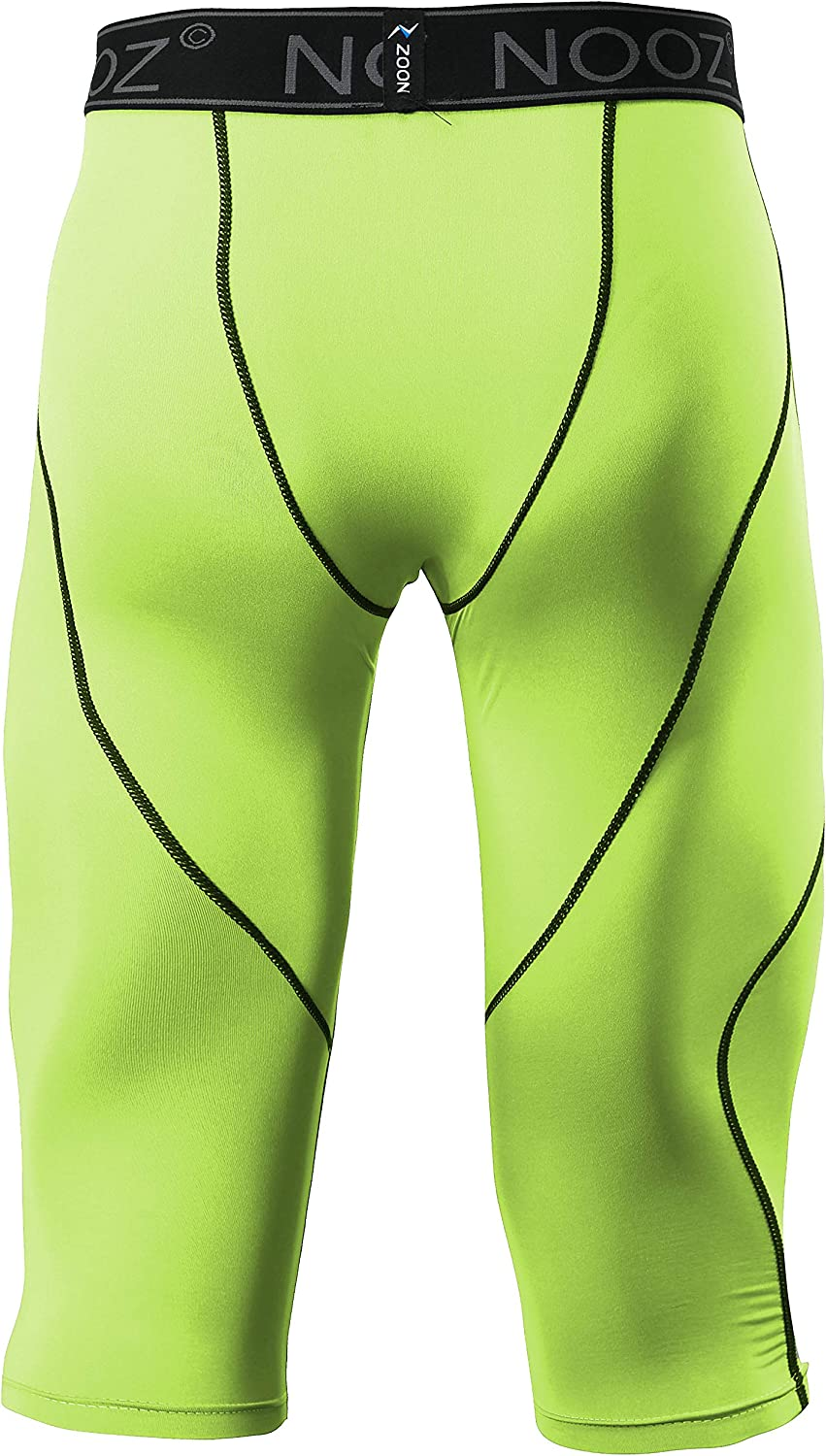 Nooz Mens Compression 3//4 Capri Pants Baselayer Legging Tights with Cool Dry Tech