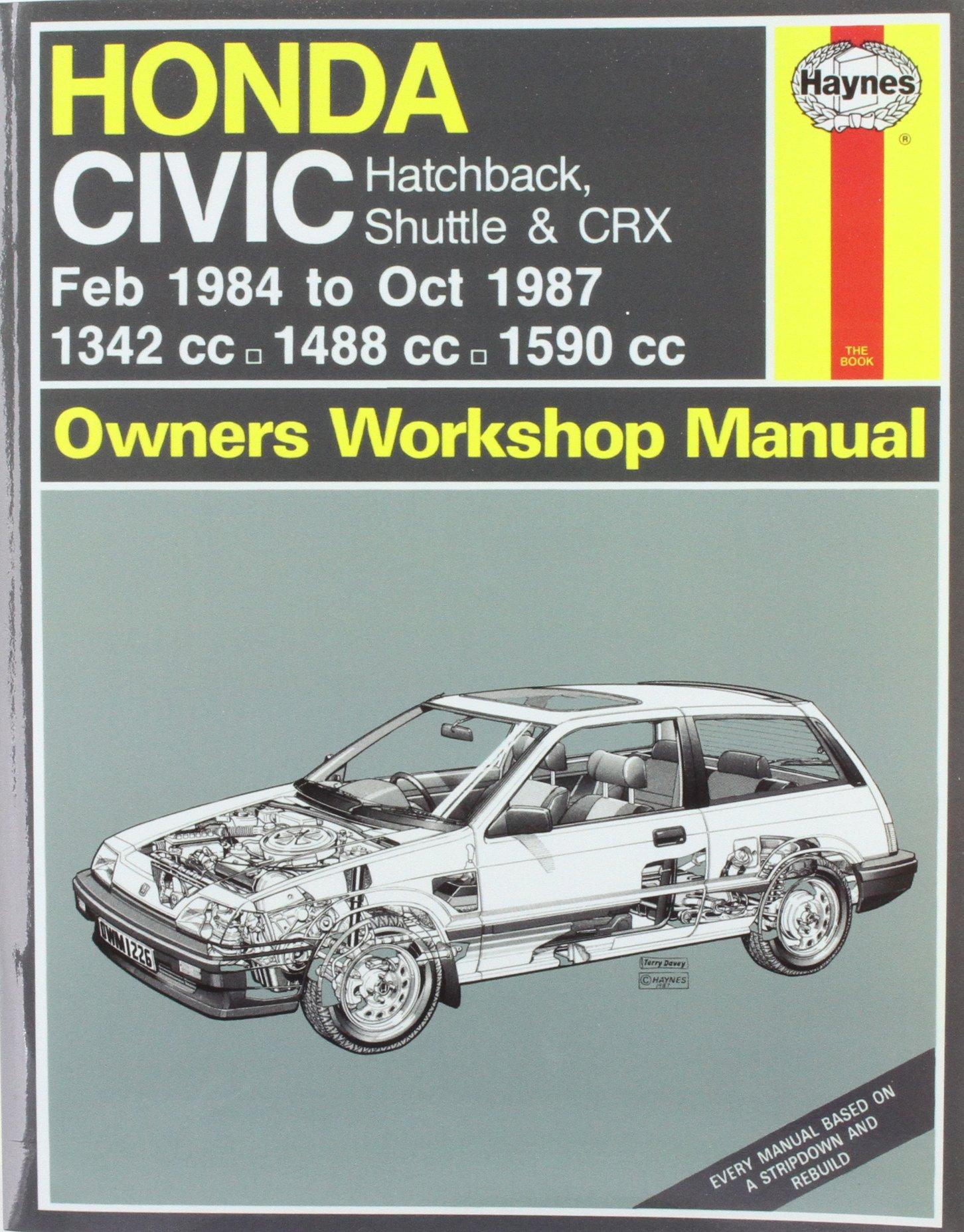 Honda Civic Hatchback, Shuttle and CRX 1984-87 Owner's Workshop Manual ( Service & repair manuals): John S. Mead: 9781850106203: Amazon.com: Books