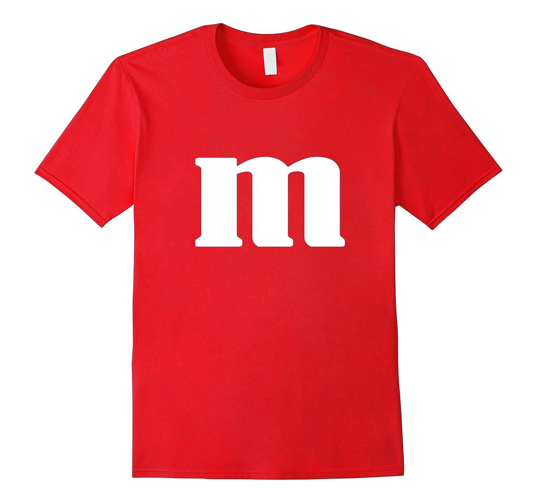 M Letter Halloween Easy Generic Costume Shirt-T-Shirt