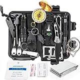 Kit de sobrevivência multifuncional, 18 em 1, ferramenta de equipamento tático profissional de defesa