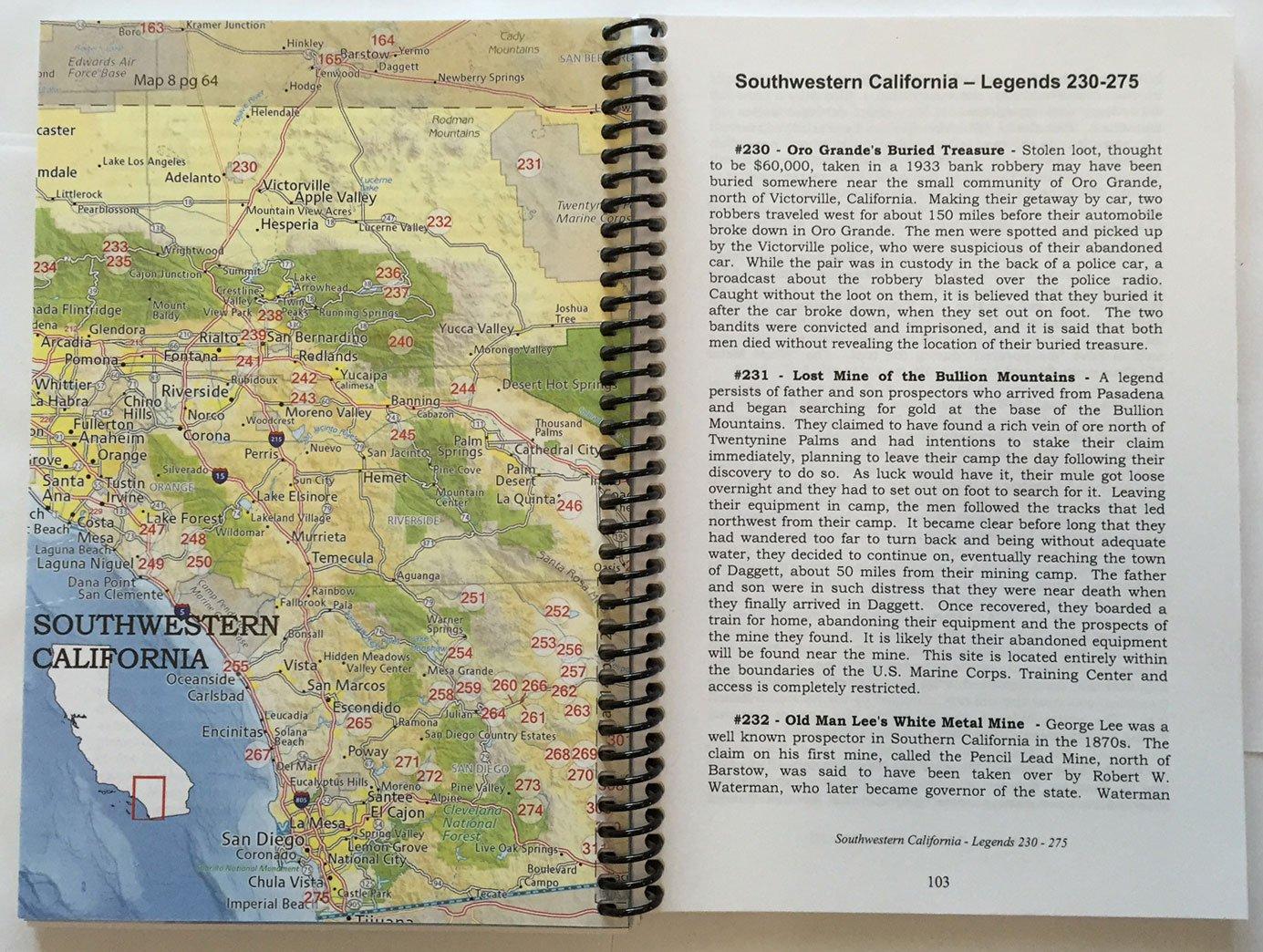Lost Treasures of California  Map  Guide Academia Maps