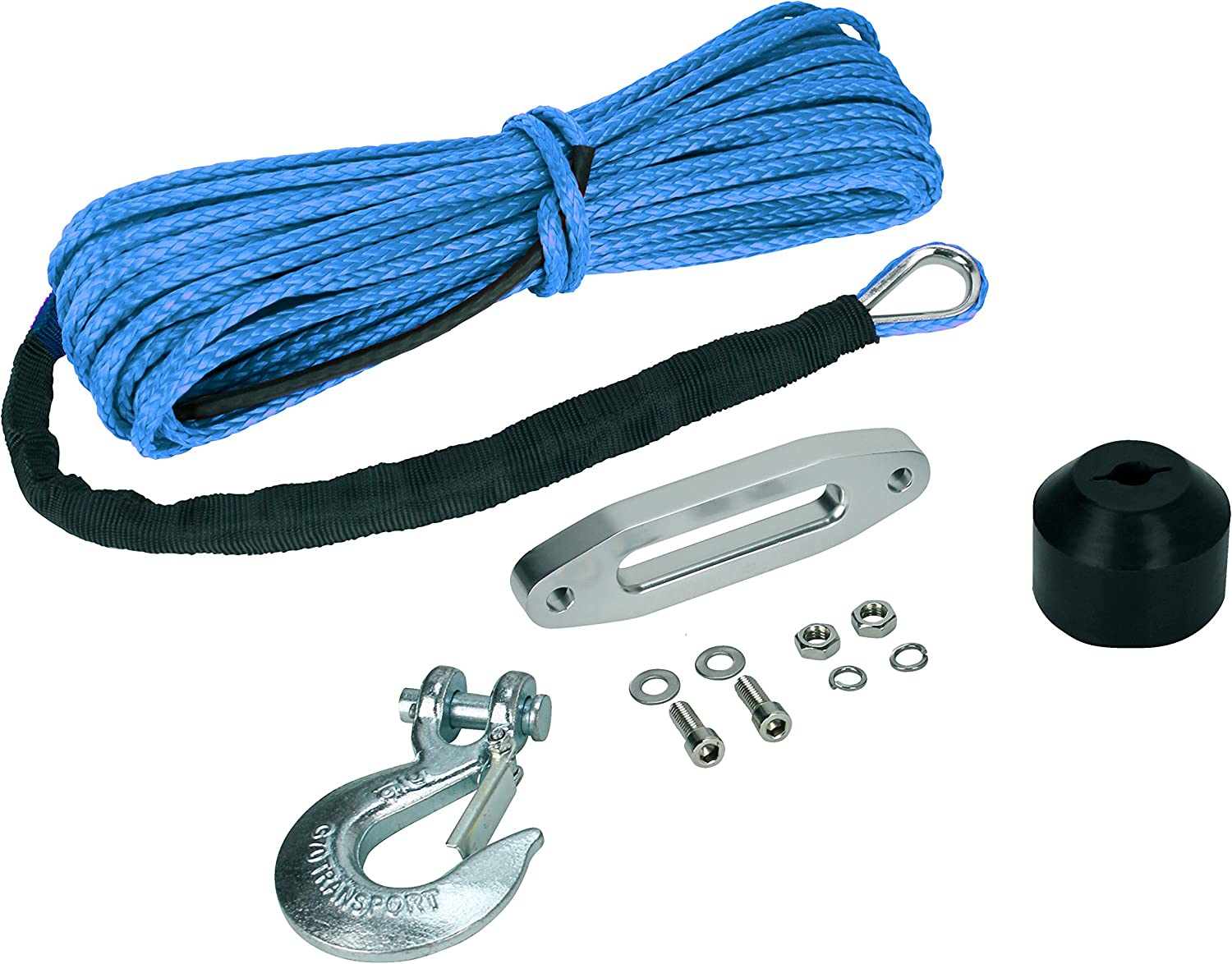 UTV Winch Rope Kit with Rope Hawse Bumper /& Hook Extreme Max 5600.3099 The Devils Helper Complete Synthetic ATV