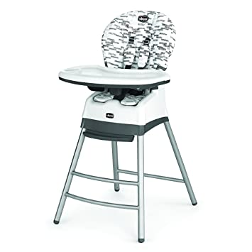Sensational Chicco 7922925 Polly Stack High Chair Oyster Black White Pabps2019 Chair Design Images Pabps2019Com