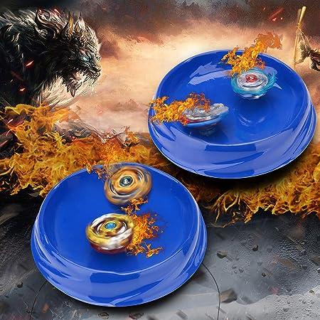 Surhomic 4 Pcs Gyro Burst Set, Gyro Master, 4D Conjuntos de Metal de Gyro Spinning Fusión Juego de Empuñadura, Regalo para niños