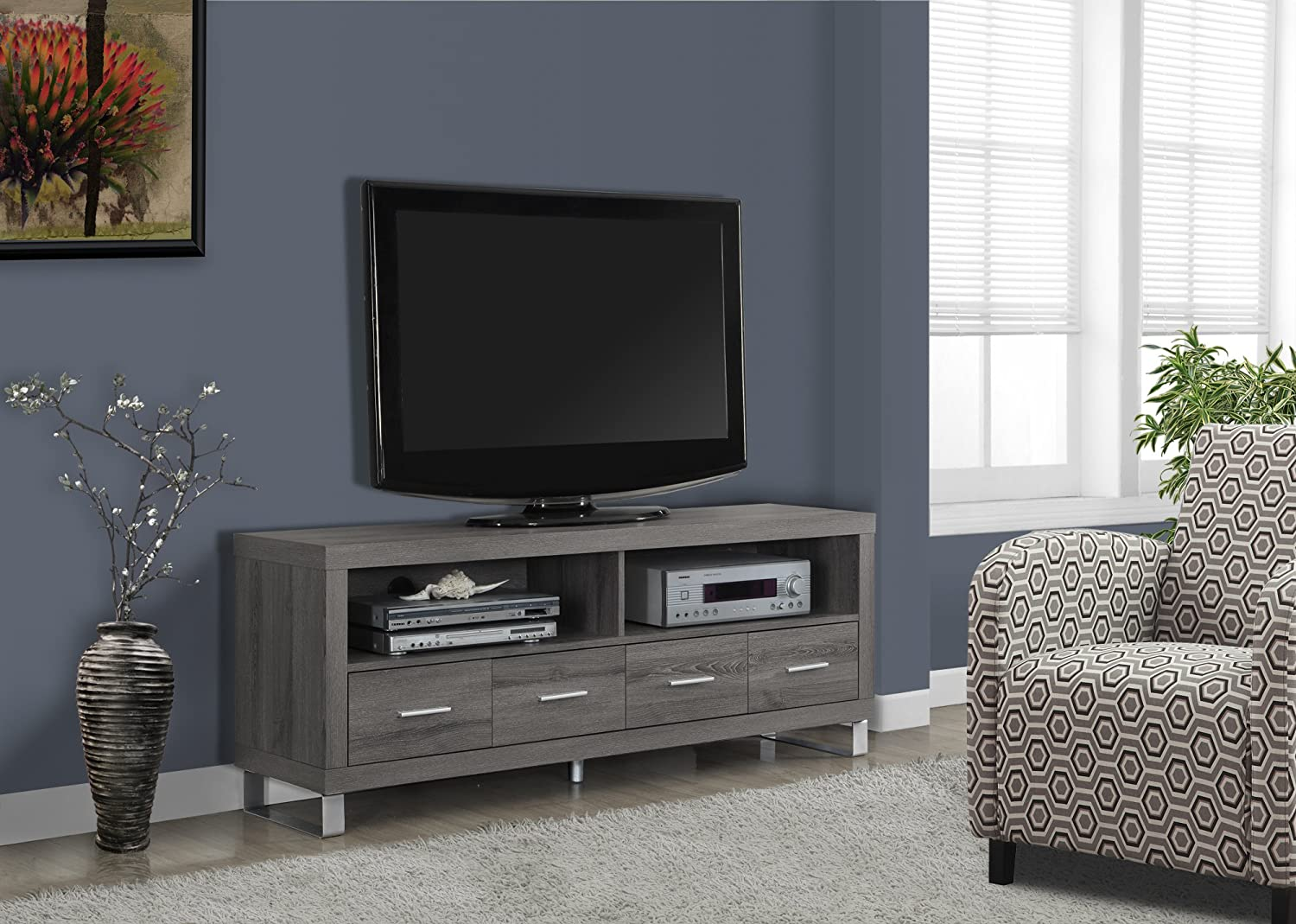 Amazon.com: Monarch Specialties I 2517, TV Console with 4 Drawers ...