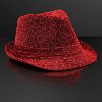 f71e5bdb6 Amazon.com: Snazzy Red Fedora Hat (Non-Light Up) by ...