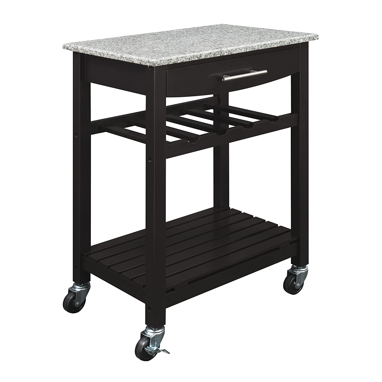 Amazon Com Dorel Living Granite Top Kitchen Cart Kitchen