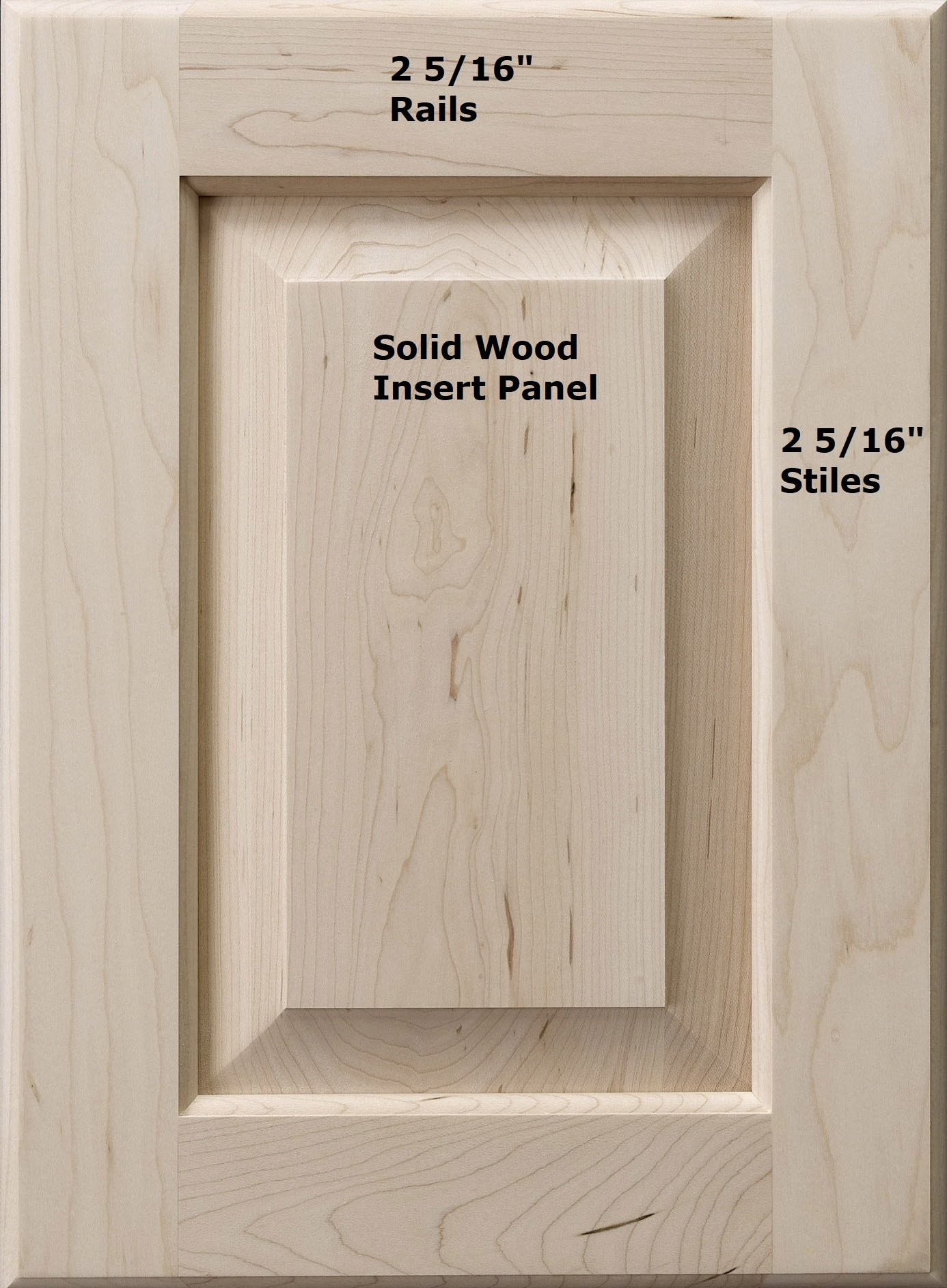Cabinet Doors 'N' More 13'' X 28'' Unfinished Paint Grade Hard Maple Raised Square Panel Kitchen Cabinet Door