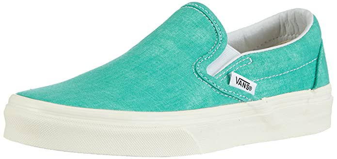 Vans Unisex-Erwachsene Classic Slip-On Low-top Grün - Washed - Pool Green