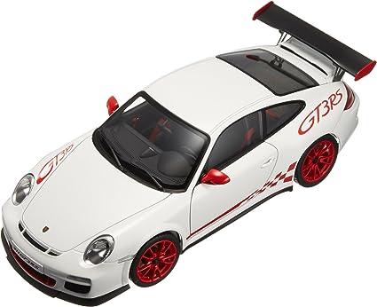 Amazon Com Autoart 1 18 Scale 78143 Porsche 911 997 Gt3 Rs 3 8 White Red Sripe Toys Games