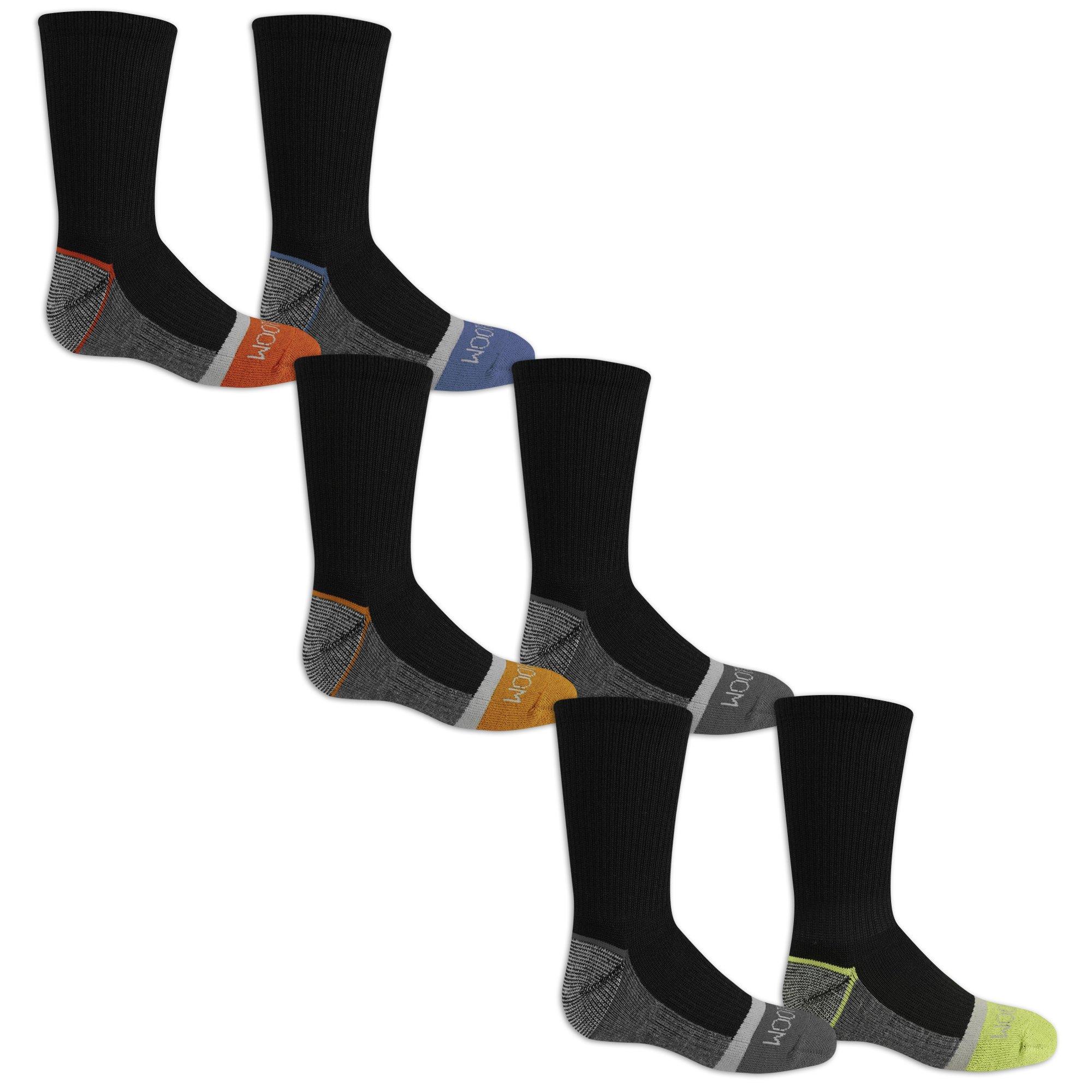Fruit of the Loom Boys 6-Pair Half Cushion Crew Socks