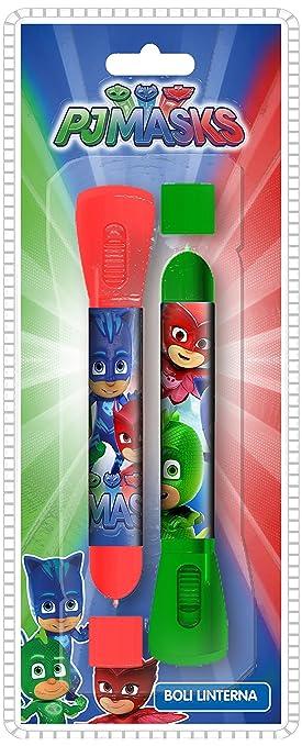 PJ Masks Blíster 2 bolígrafos con Linterna (Kids PJ17006)