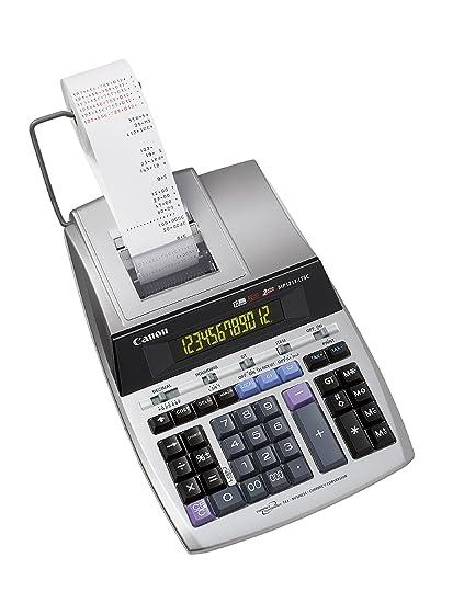 Calculadora impresora Canon MP1211-LTSC plata: Amazon.es: Oficina ...
