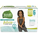 Seventh Generation Free & Clear Baby Diapers with Animal Prints Size 6, 35+ lbs 100 count