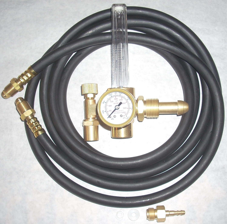 Argon or Argon/CO2 Flowmeter Mig Tig Welding Regulator w 10\' Inert ...