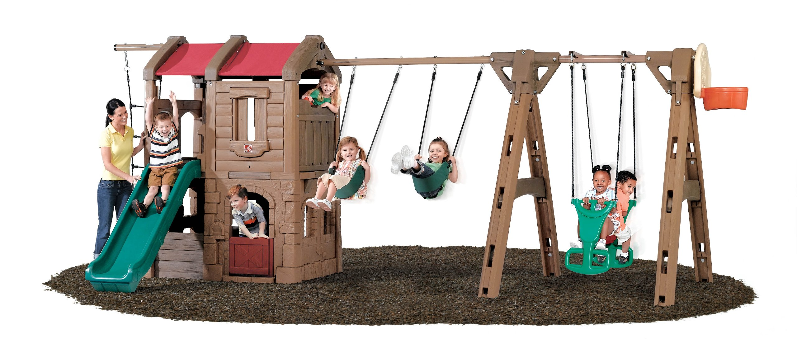Step2 Naturally Playful Adventure Lodge Play Center Swing Set with Glider by Step2