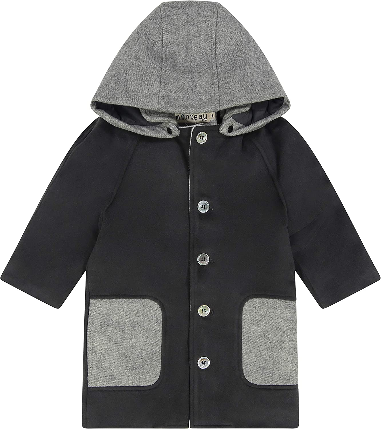 Cozy Coop Wool Hooded Duffle Coat for Boys and Girls Winter Wear