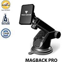 Tech Sense Lab (Australia) –Magback Pro Magnetic Car Mobile Phone Holder/Mount, Universal Mobile Stand with one touch 360 degree rotating for Dashboard/Windshield,Upgraded 2018 model for all Smartphone's- iphone,Samsung,Android etc ((Black))