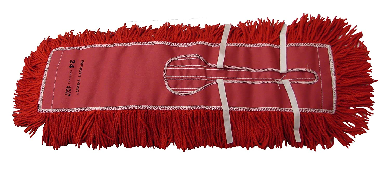 Pack of 12 Red 5 x 18 Golden Star AJU18CITR Jumbo Infinity Twist Dust Mop Head 5 x 18