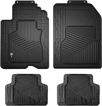 Amazon Com Smart Fit 79924 4 Piece Black Rubber Universal Car Floor Mat Set Automotive