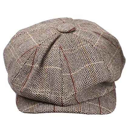 311f8beded9 Buy MagiDeal Newsboy Golf Flat Gatsby Tweed Sun Hat Country Beret Baker Cap  Khaki Online at Low Prices in India - Amazon.in