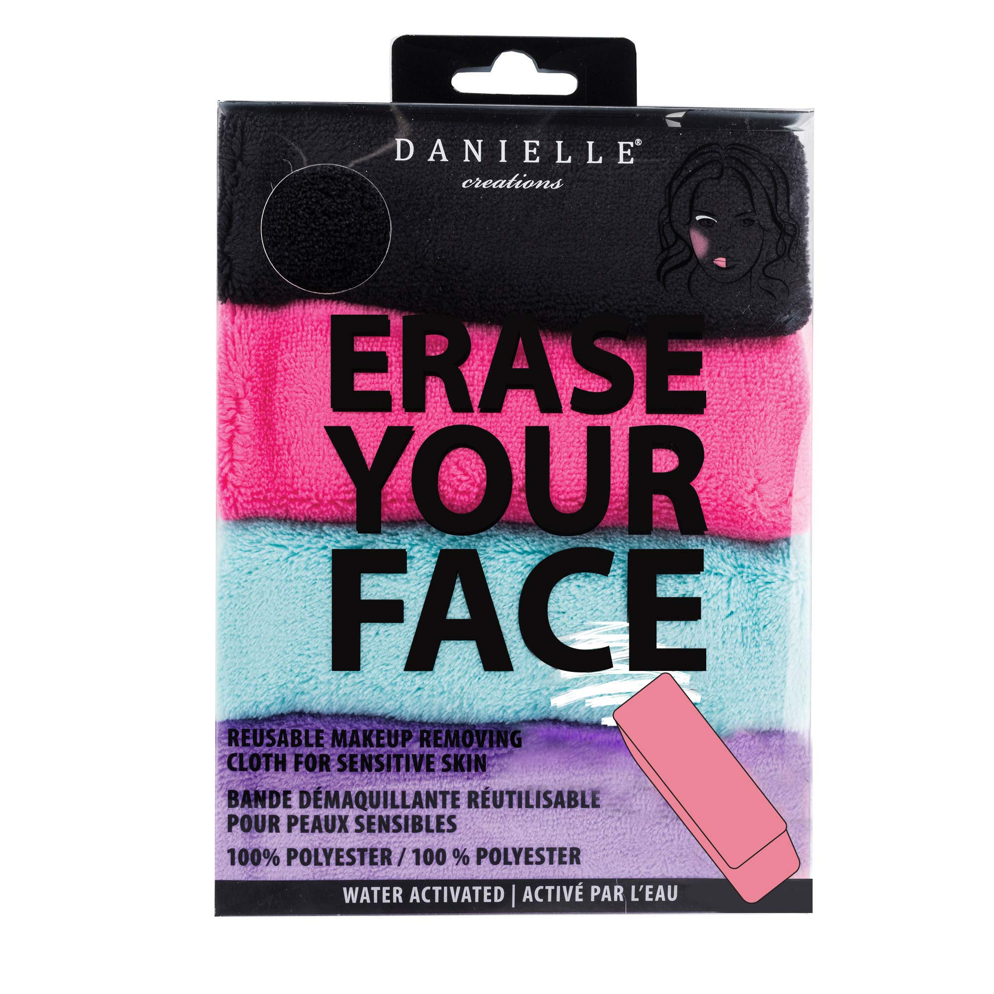 Make-up Removing Cloths 4 Count, Erase Your Face By Danielle Enterprises Enterprises Enterprises by Danielle